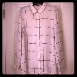 The Limited Windowpane Blouse